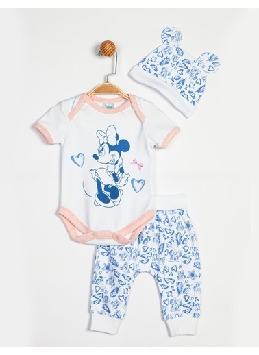 Minnie Mouse  Bebek 3'Lü Takım 13931 Beyaz